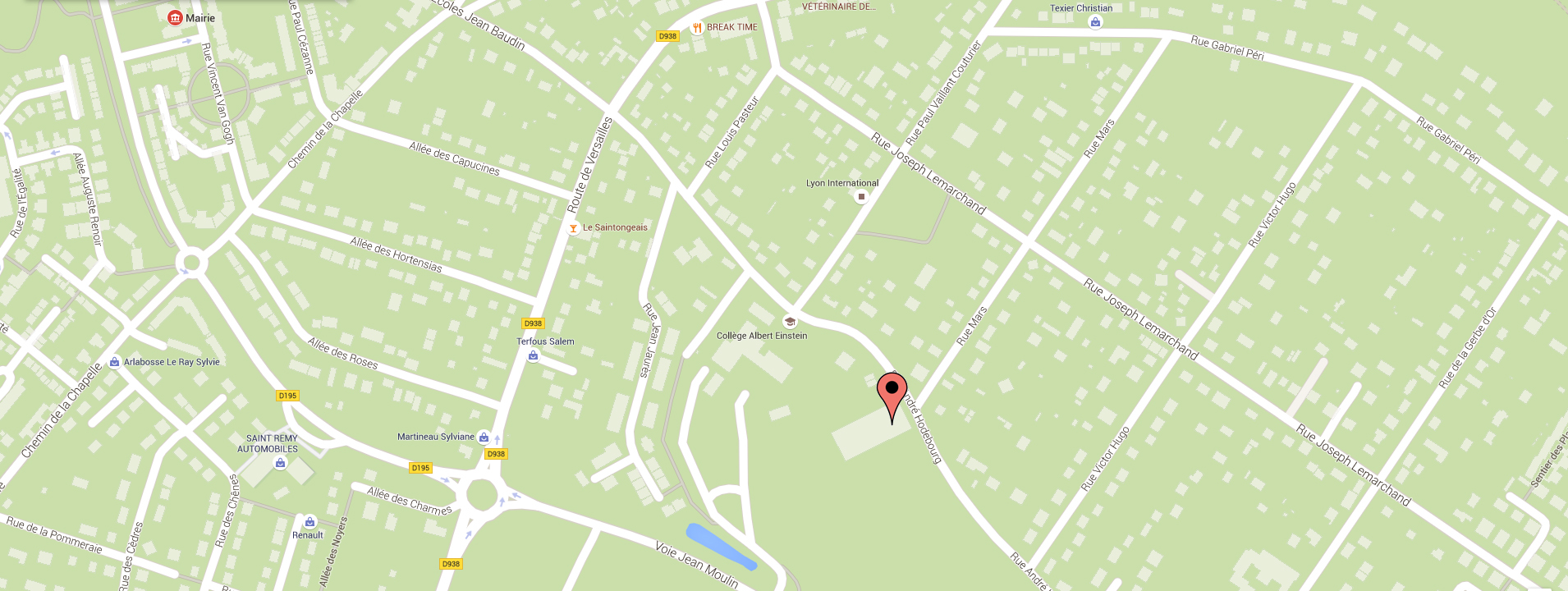 map gymnase mauduit